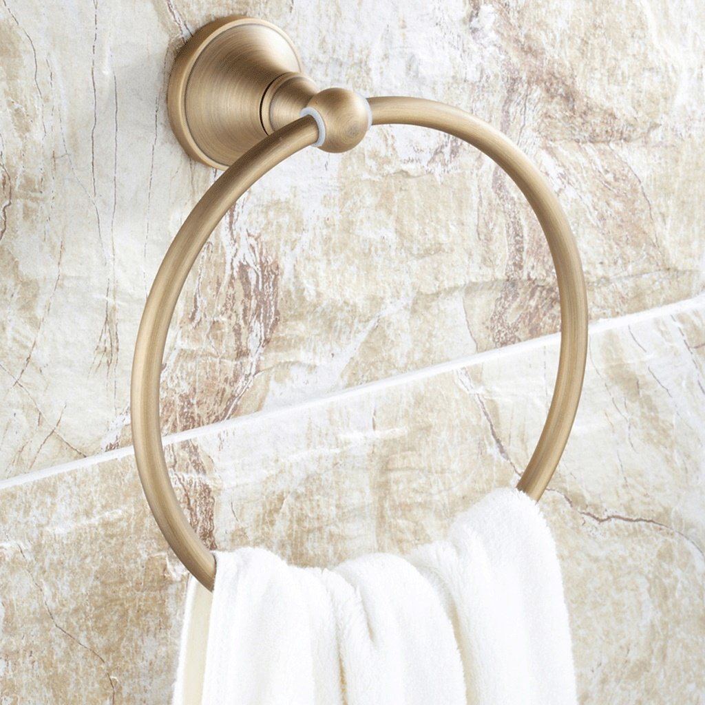Edge To Full Copper Antique Towel Ring European Style Towel Hanging Towel Rack Bathroom Hardware Pendant Luxury Towel Ring