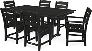 product image for POLYWOOD Lakeside Dining Set, Black