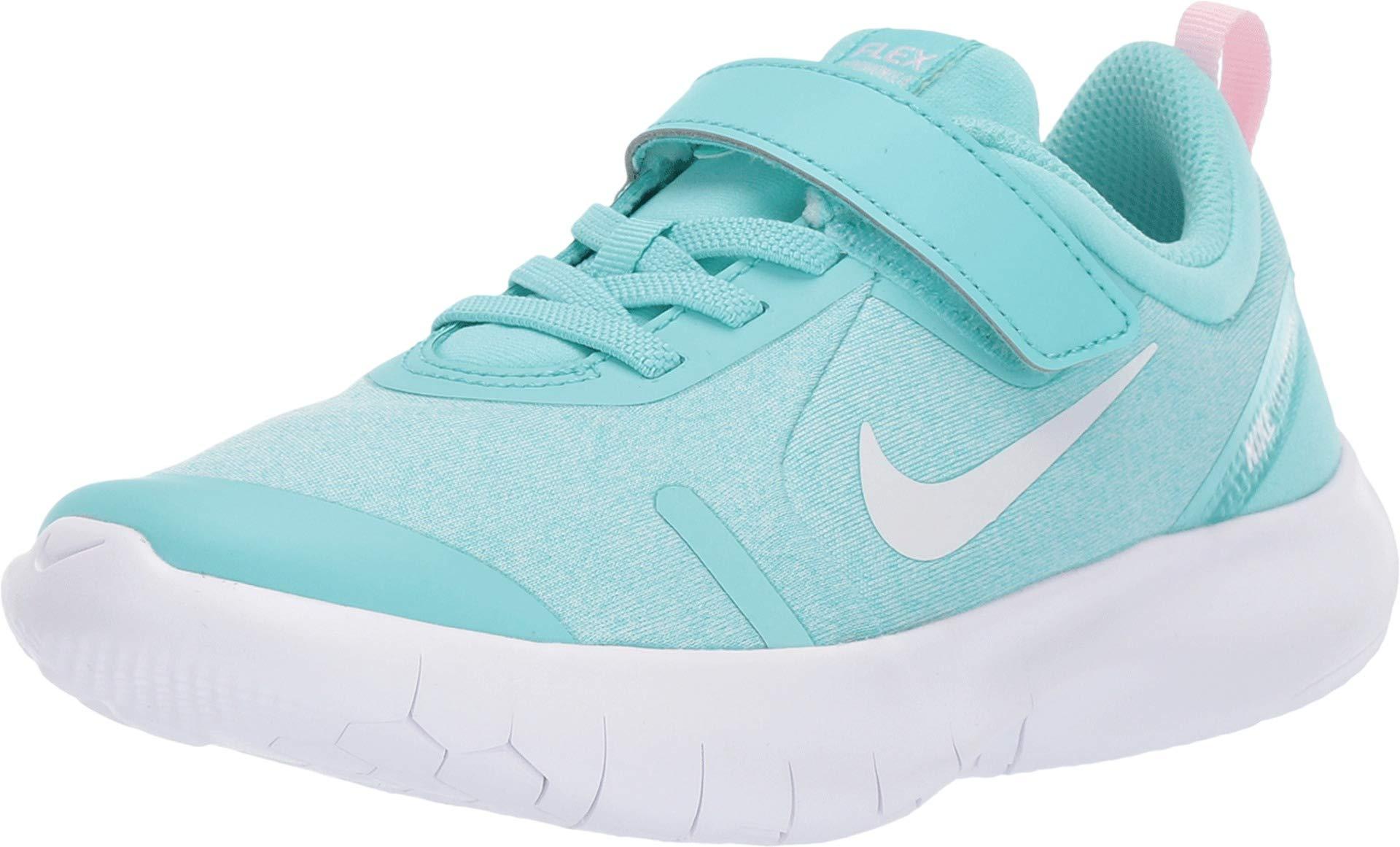Nike Kids Girl's Flex Experience RN 8 (Little Kid) Light Aqua/White/Pink Foam/Teal Tint 1 M US Little Kid