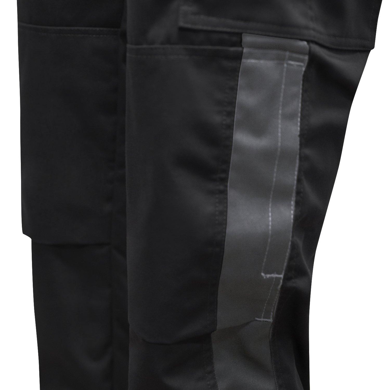 Pantal/ón de Trabajo Berlin Negro Dry Ripstop Repelente al Agua Teflon Dupont Pantalones de Lluvia Transpirables strongAnt/® Ropa de Trabajo para Hombre con Bolsillos en Las Rodilleras