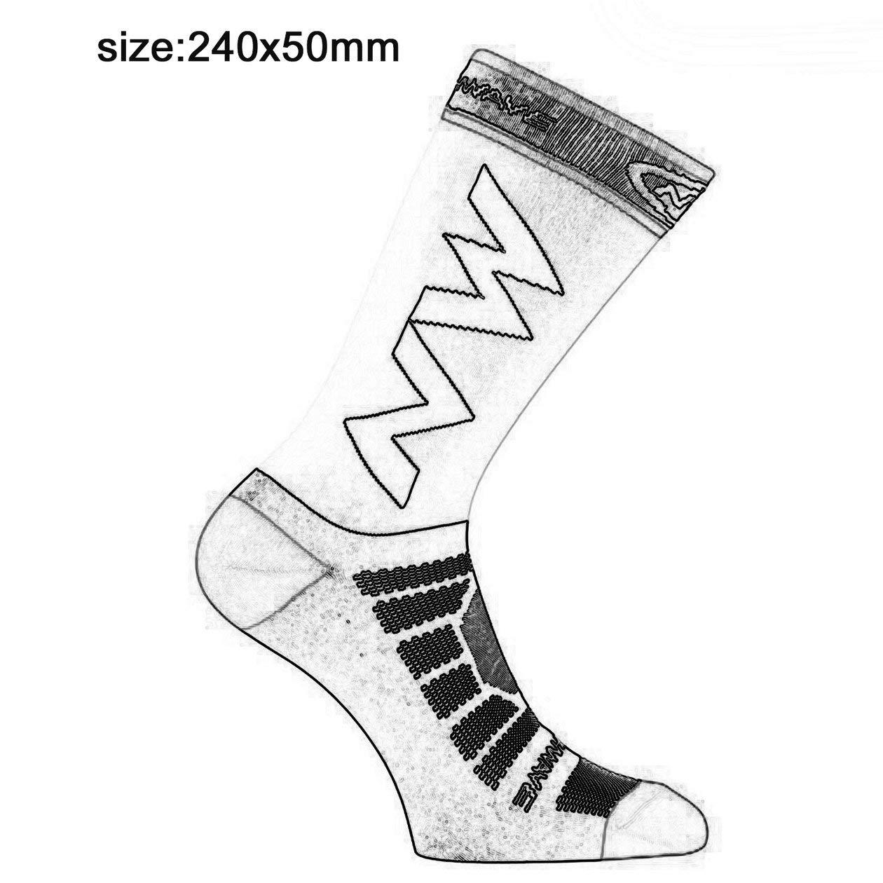 blanco Calcetines largos de compresi/ón para hombres adultos transpirables Calcetines de f/útbol calientes Calcetines de baloncesto Deportes antideslizantes Ciclismo Escalada Calcetines para correr