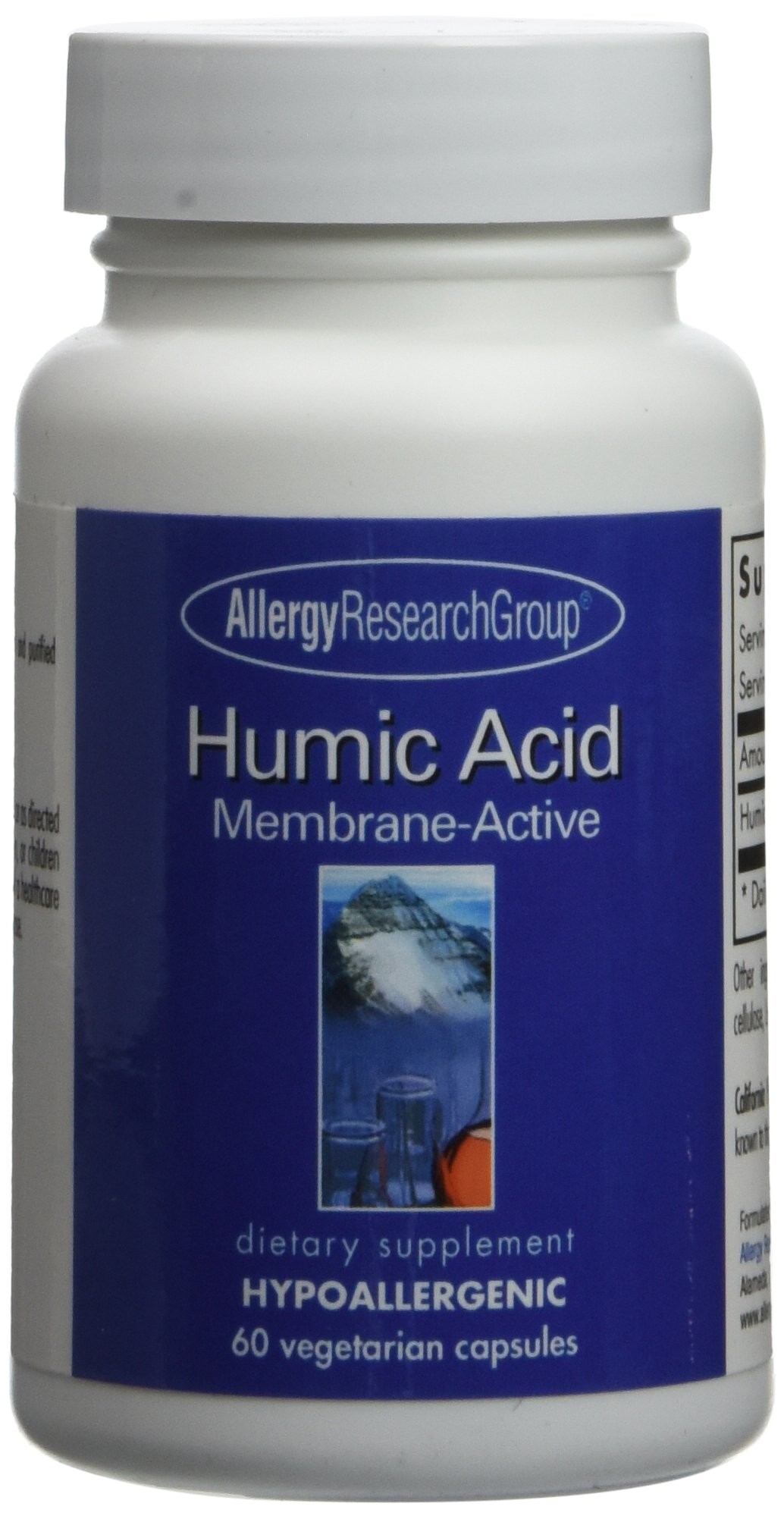 Allergy Research Group Humic Acid Membrane-Active 750 mg 60 Veg Caps