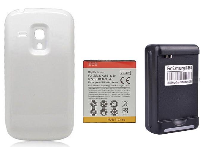 watch 8b4b7 7b633 Amazon.com: fourstarr deals 4000mAh Extended Battery + White Battery ...