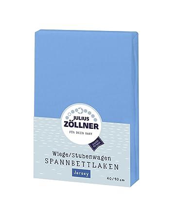 Kinderwagen hellblau Zöllner Spannbettlaken 40x90 cm Jersey für Stubenwagen