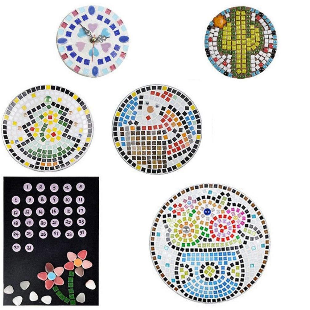 Cintur/ón Mosaico Fabricaci/ón de la joyer/ía Pendiente 60Pcs Azulejos de Mosaico de Porcelana cer/ámica Micro Manual de Bricolaje Mosaico Decoraci/ón Oval Ultrafino Cielo Azul de cer/ámica