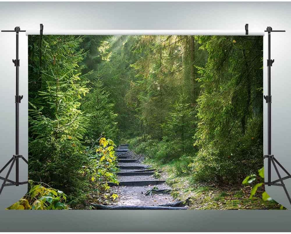 New 7x5ft Forest Path Backdrop Natural Scenery Photography Background YouTube Backdrop Video Photo Studio Props 326