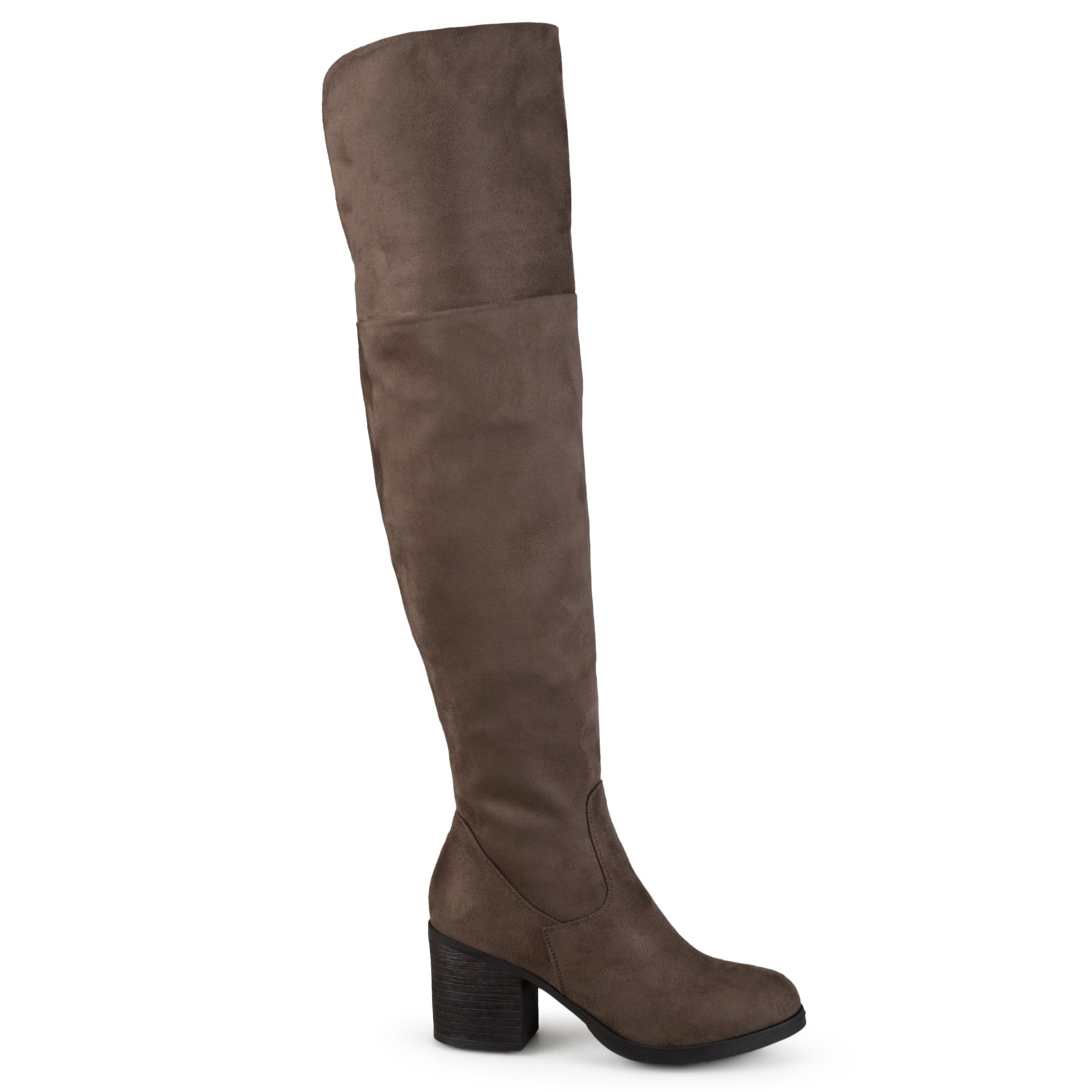 Brinley Co Women's Sall Over The Knee Boot, Taupe, 8 Regular US