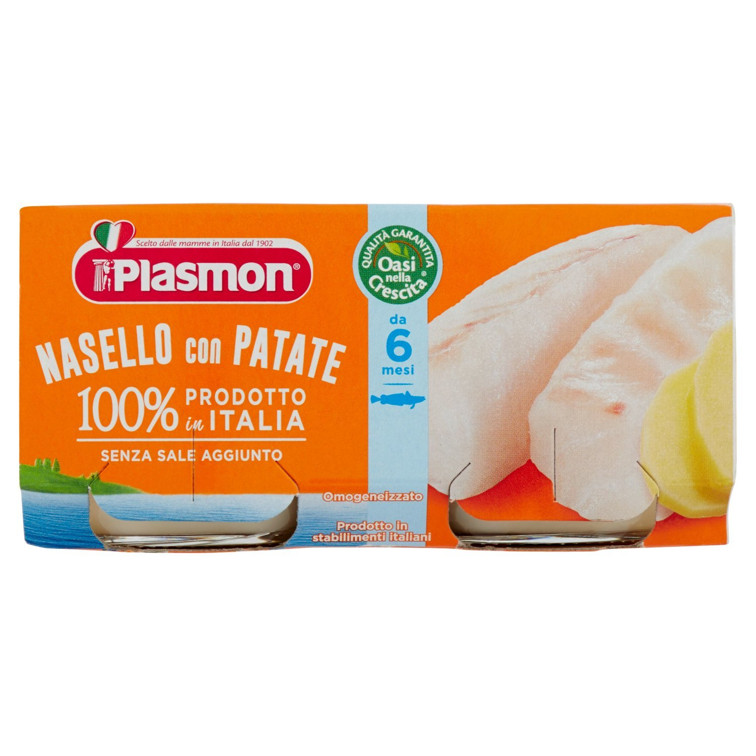 Plasmon Cod & Hake fillets with Potatoes Meal Puree (2x80g) 70909200