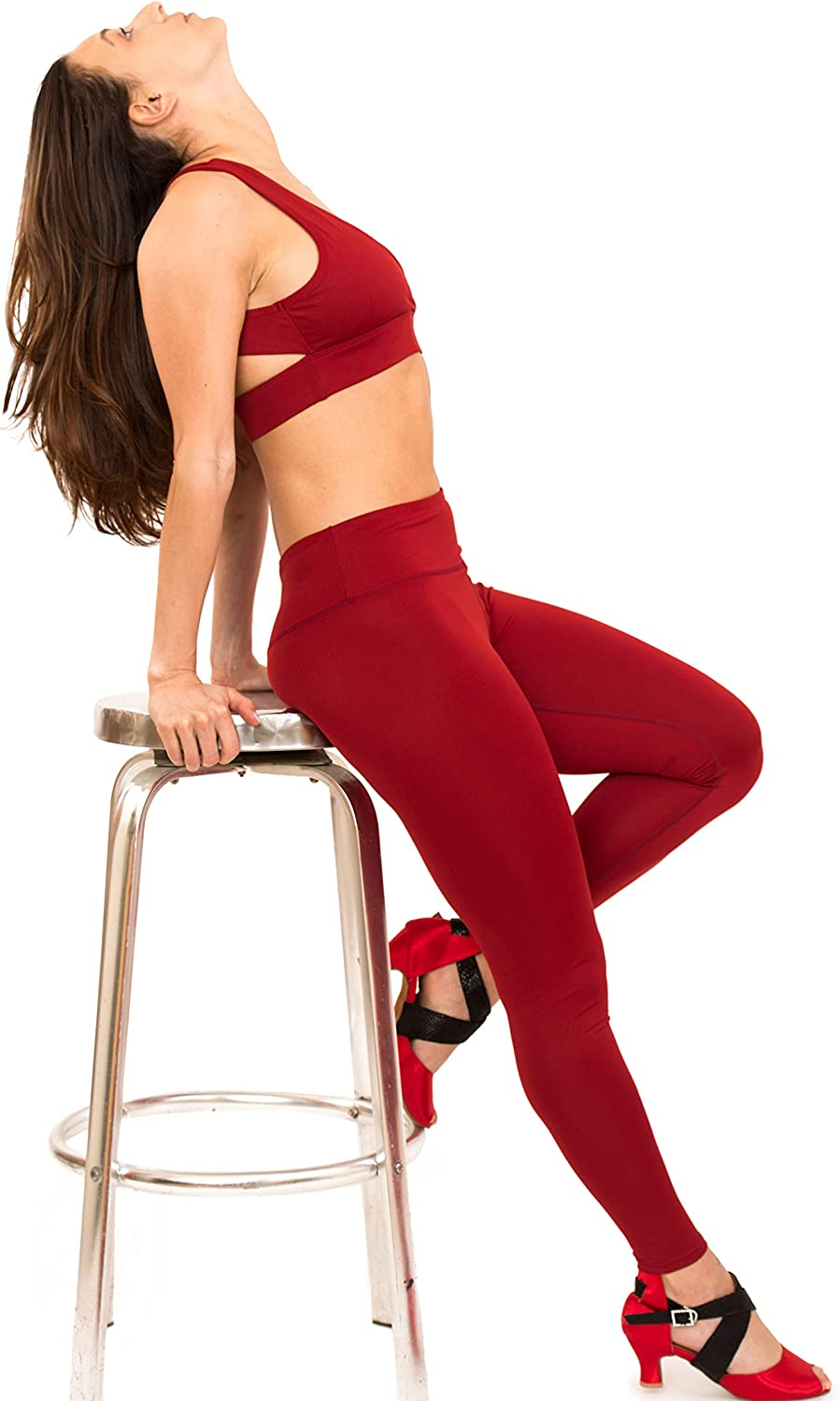 Dark red Tights Yoga Pants Christmas Leggings Tights Outfits Holiday Truly Deeply Red Leggings