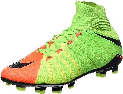 Black/Hyper Orange Soccer Shoes - 4.5Y