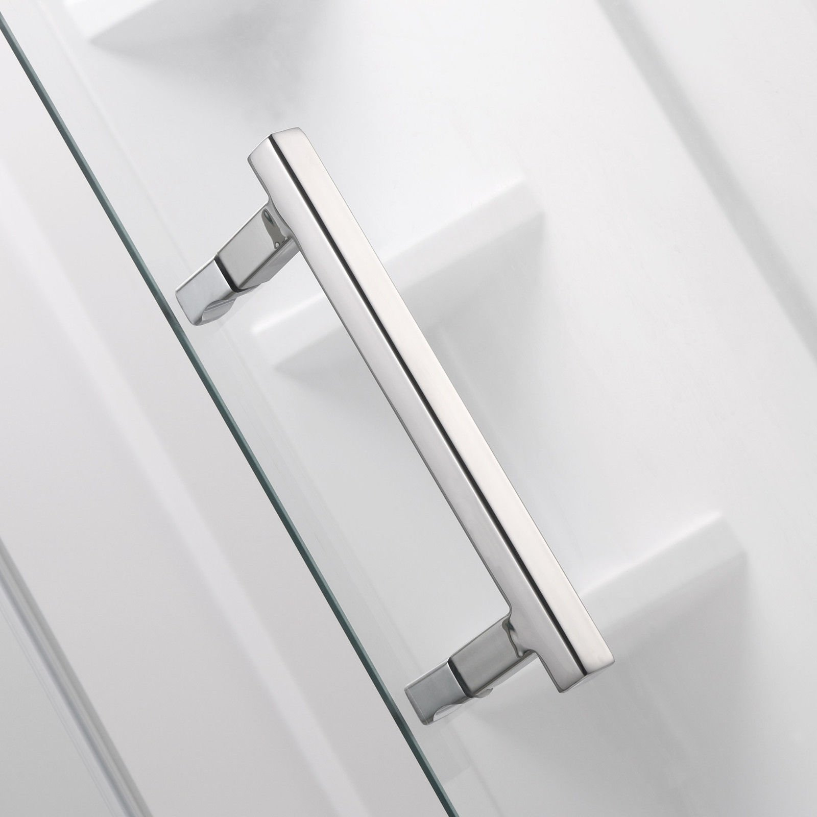 SUNNY SHOWER A33, Semi-frameless Neo-Angle Corner Shower Doors, Fit to 36 3/5'' W x 36 3/5'' D x 71 4/5'' H, 1/4'' Clear Glass, Chrome Finish- Back-wall & Shower Base Sold Separately by SUNNY SHOWER (Image #5)