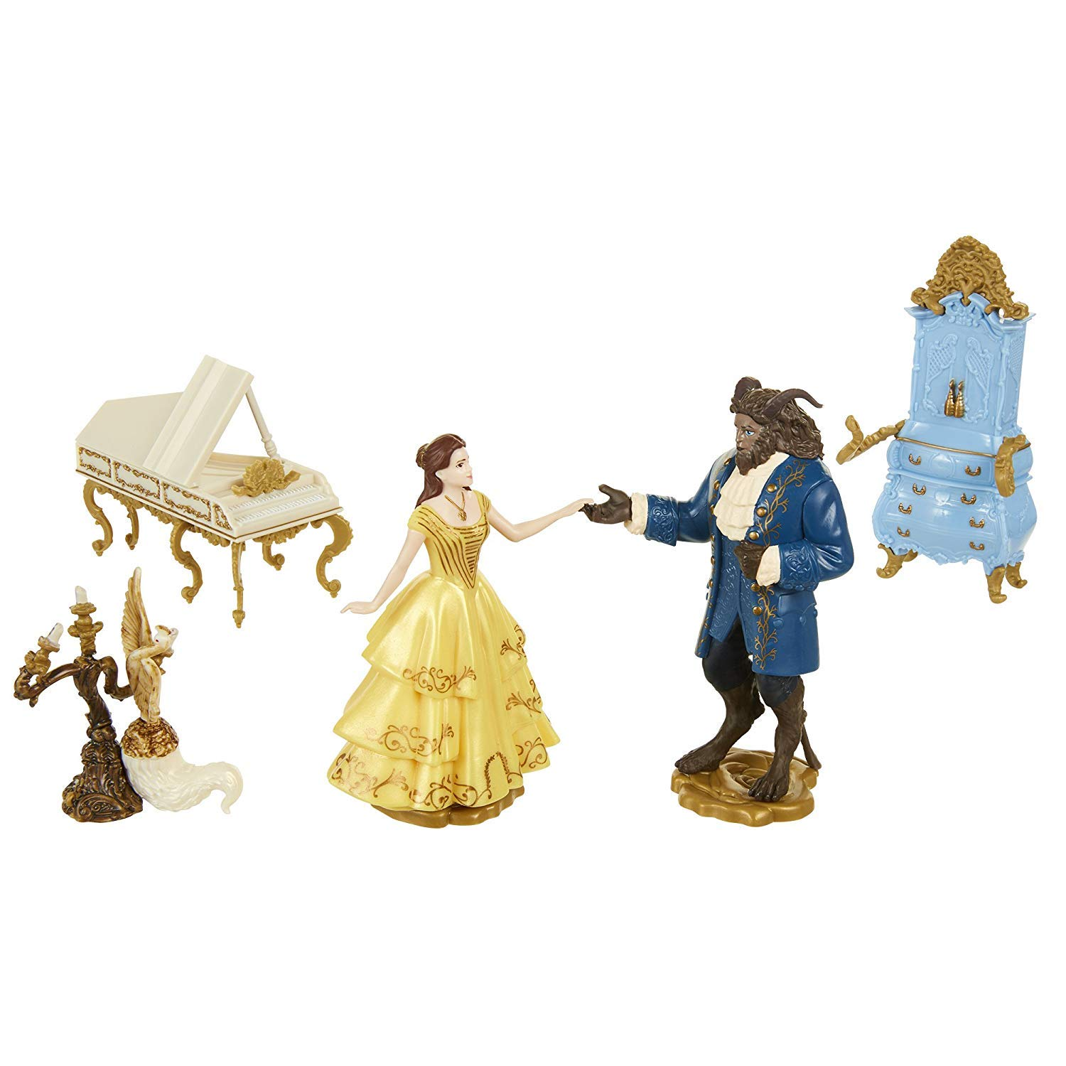 Disney Beauty and The Beast Birthday Party Cake Toppers Topper Set