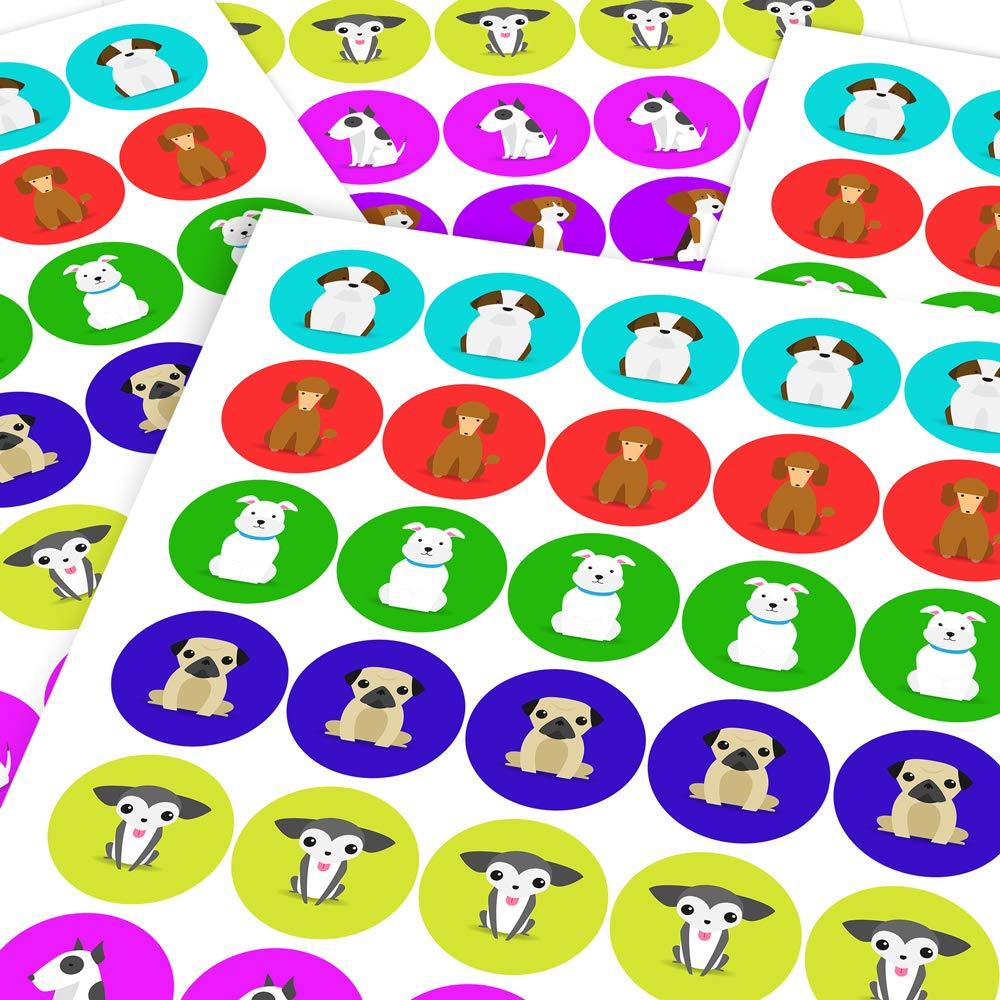 Chunky Hamster Clipart Dogs, Reward Sticker Labels (6 Stickers @ 9.5cm) Children, Parents, Teachers