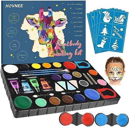 HOVNEE Pintura de cara Facial para Niños Kit de Pintura,maquillaje ...