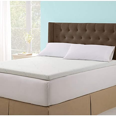 online store 64c93 586bd Soothing Cooling Gel Infused 2.5 Inch Ultra-Supportive and Body Cradling  Memory Foam Mattress Topper with Removable and Washable Zippered Tencel  Cover ...