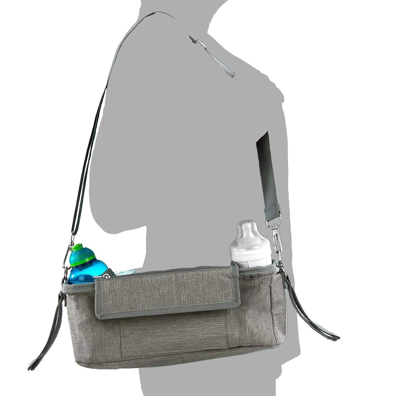 Un accessoire incontournable pour landau housse de pluie Organisateur BTR pour landau ou poussette Plus 2 clips de poussette gratuits sac de rangement pour poussette housse /à rabat /étanche exclusive pour t/él/éphone portable