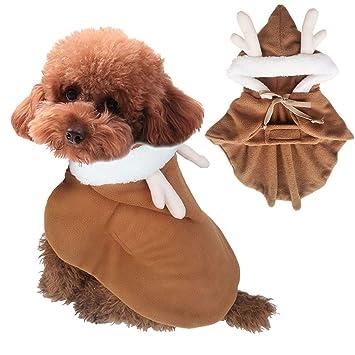 Traje De Mascota De Navidad Estéreo Traje Perro Vestido De ...
