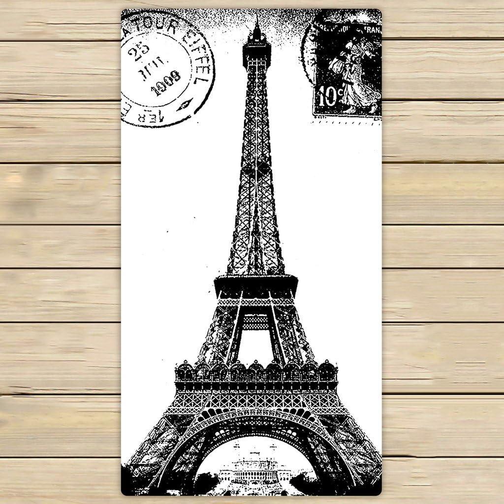 Off White 3 piece set of Eiffel Tower//Paris Towels