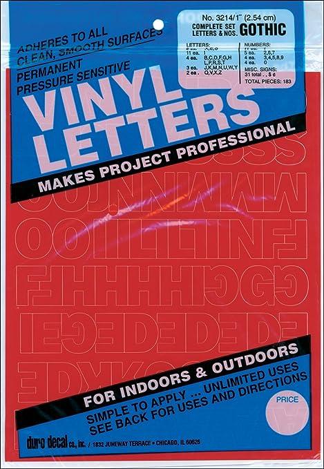 Permanentes vinilo adhesivo Letras y números 1
