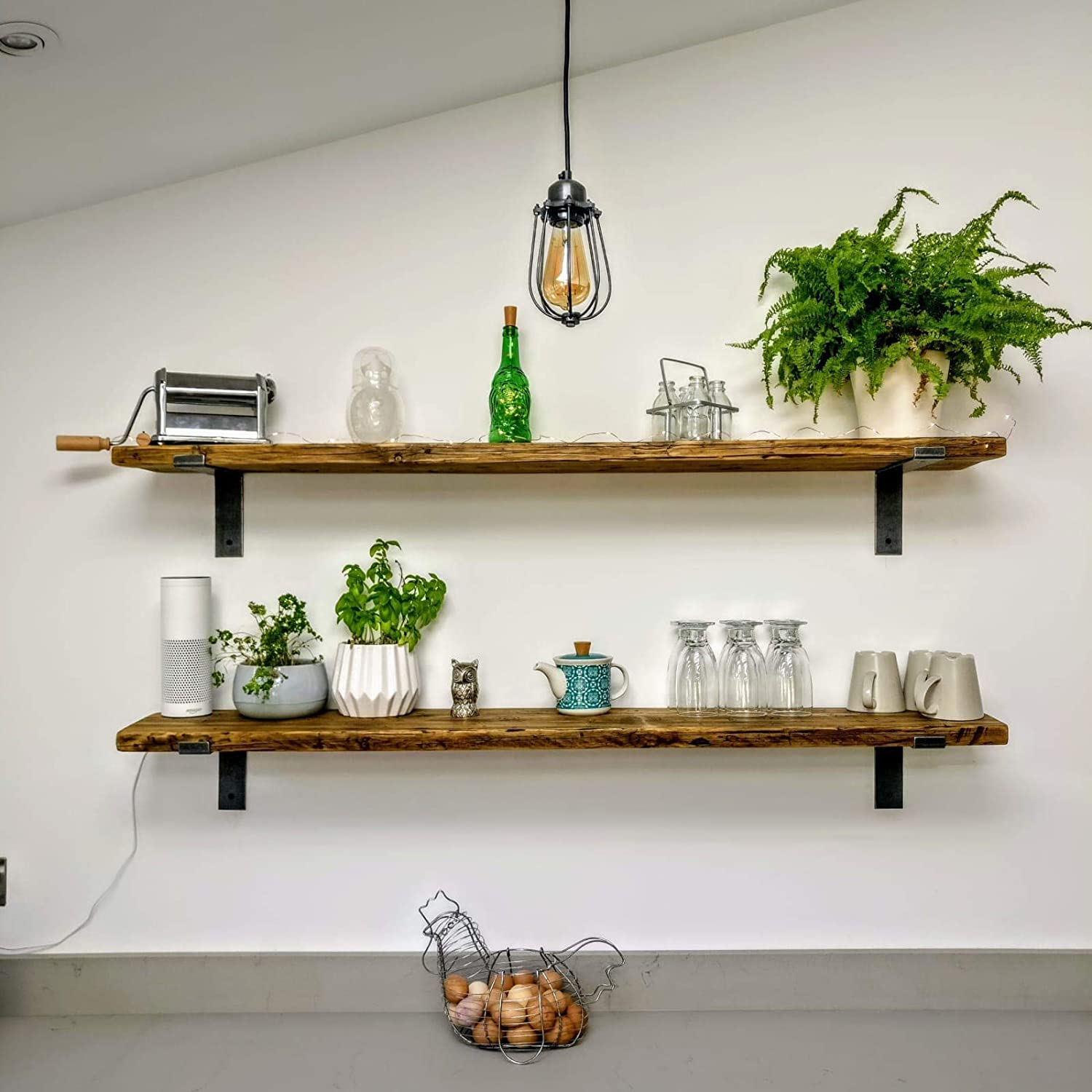 Scaffold Board Rustic Wooden Shelf Short 30cm To 140cm With Osmo Finish Amazon Co Uk Handmade