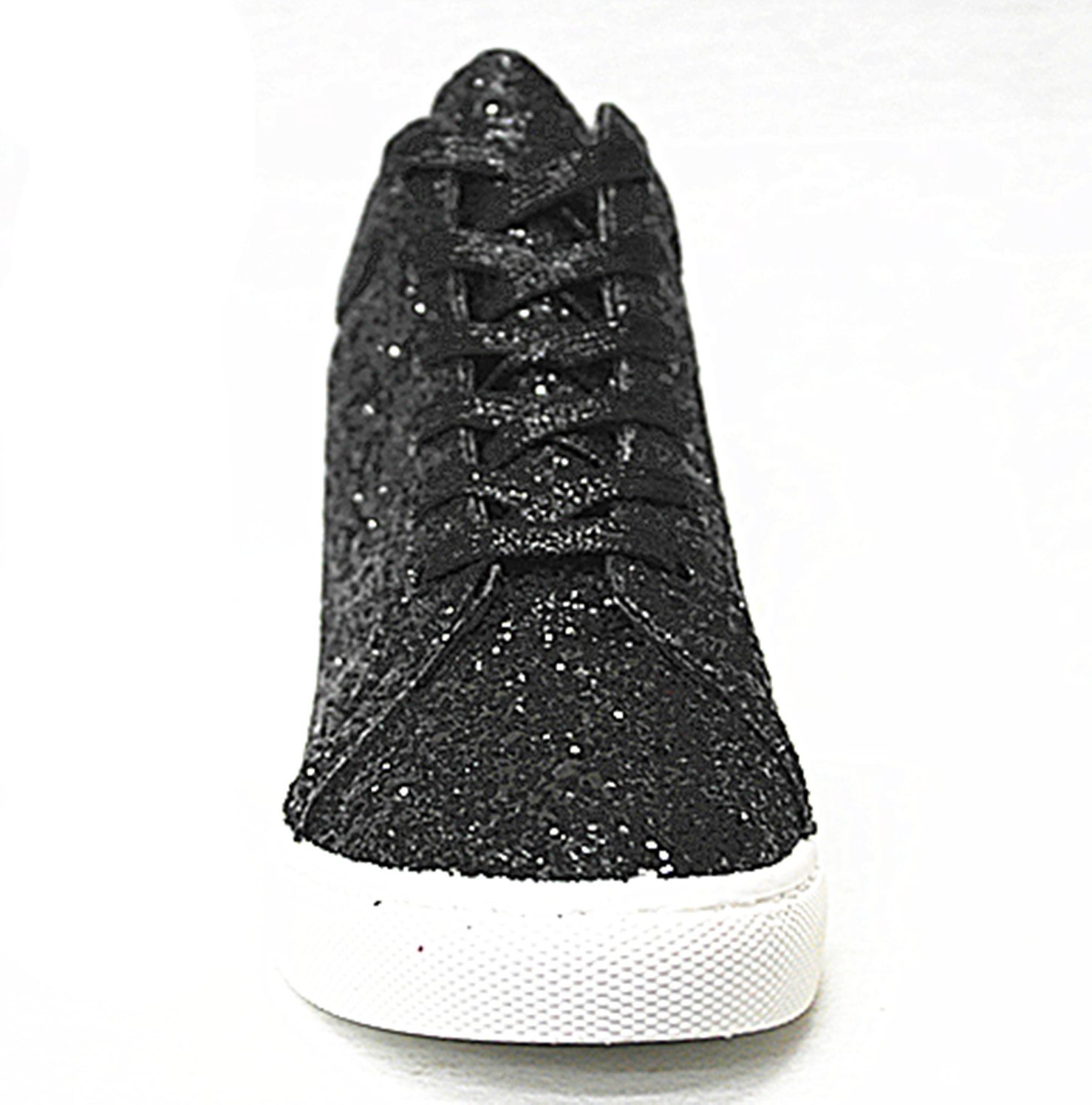 SF Forever Link Remy-18 Women's Jogger up Sneaker-Lightweight Glitter Quilted Lace up Jogger Shoes New B07BJC7629 9 B(M) US|Black-27 e5a3bb