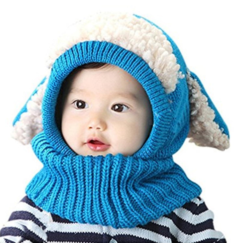ZZLAY Belle bébé chapeau d hiver écharpe earflap capuche écharpes crâne  casquettes chaudes tricot couverture de visage cagoule  Amazon.fr  Sports  et Loisirs ac073a6acc5