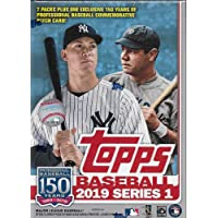2019 Topps Baseball Series #1 Unopened Blaster Box of Packs with 99 Cards Including One…