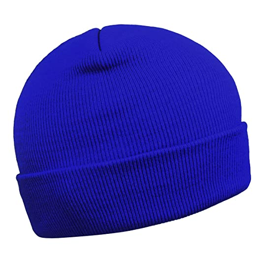 642c3bee Cuffed Beanie for Men Skull Knit Cap Toboggans for Women Winter Warm Hats( Blue)