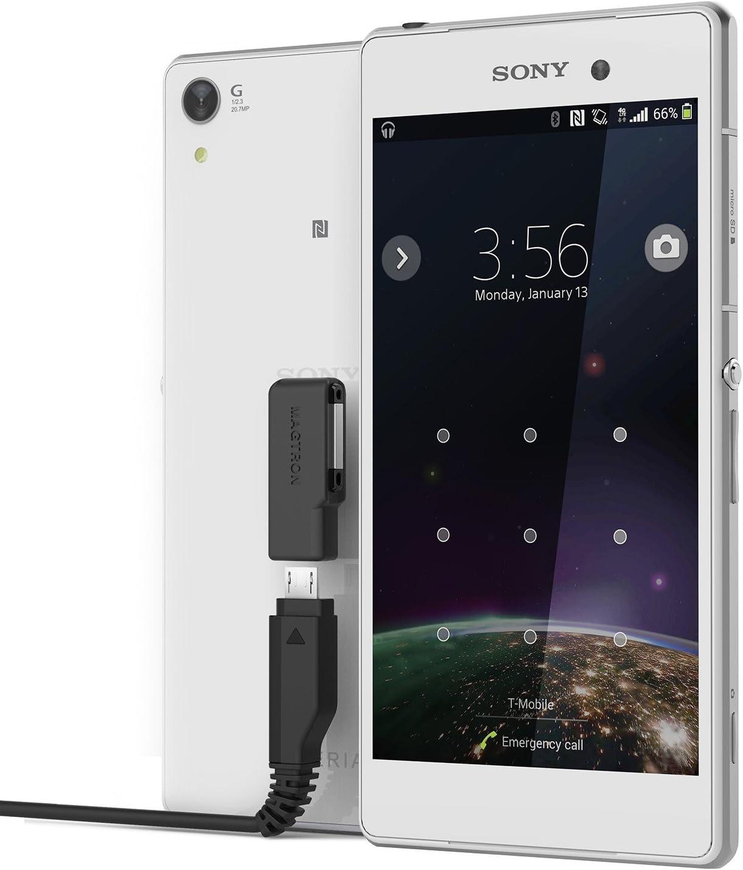 con conexi/ón magn/ética y velocidad de carga avanzadas Adaptador de carga de alto rendimiento para Sony Xperia Z1 // Z2 // Z3 Magnector X Color negro