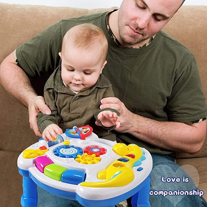 Amazon.com: HOMOFY Baby Toys Musical Learning Table 6 Months up ...