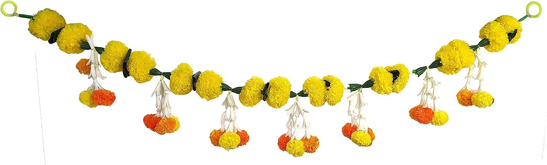 Decorative Handcrafted Multicolour Door Hangings Toran, Artificial Marigold Flowers Garlands Toran, Home Door Wall Hanging Decorative