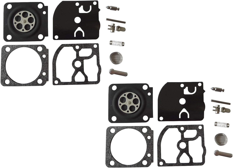 Kit de reparación y reconstrucción del carburador sustituye a ZAMA RB-127 para Motosierra HOMELITE de 45 CC ZAMA C1M-H58 (Paquete de 2)