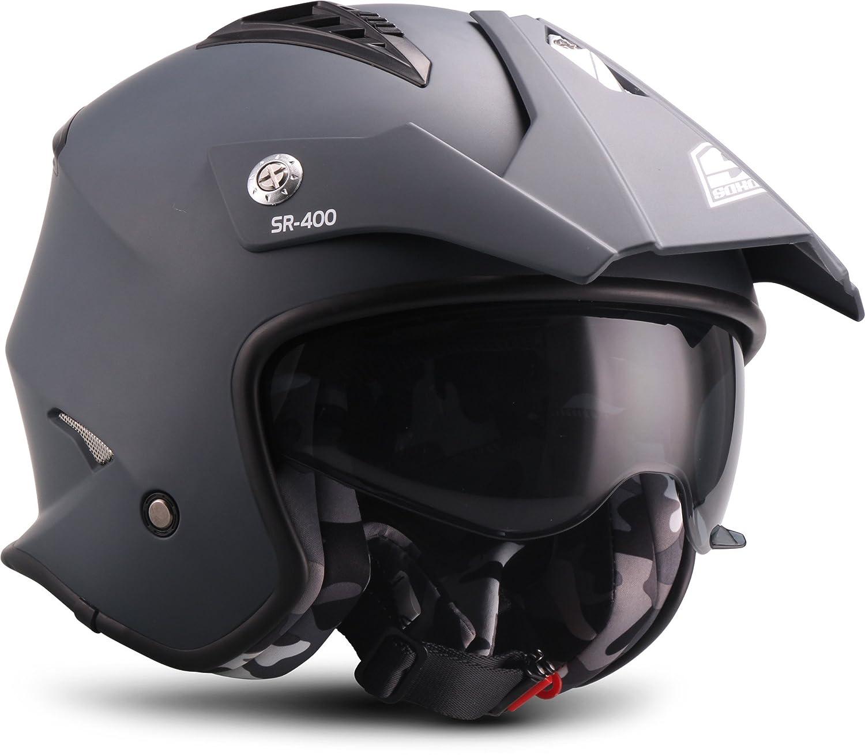 61-62 cm Blau Gr/ö/ße XL SOXON Motorrad-Helm