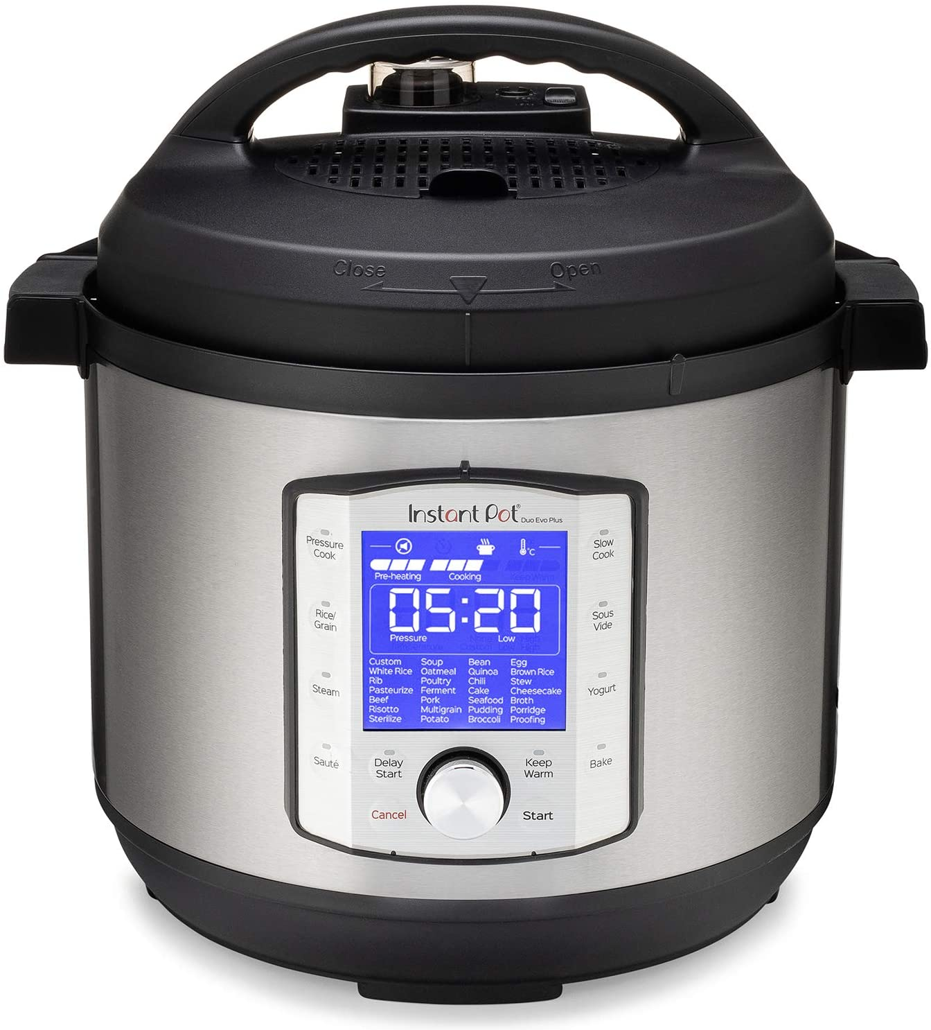 Instant Pot Duo Evo Plus 9-in-1 Electric Pressure Cooker, Sterilizer, Slow Cooker, Rice Cooker, Grain Maker, Steamer, Saute, Yogurt Maker, Sous Vide, Bake, and Warmer, 8 Quart, 10 Programs