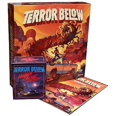Terror Below Board Game, Hidden Cache & Story Book (Kickstarter Exclusive): Toys & Games