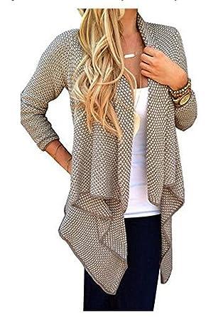 ef80fdbea8 Lonlier Damen sommer Strickjacke Cardigan Jacke Mantel Outwear Tops, EU 42/ XL (Kahaki