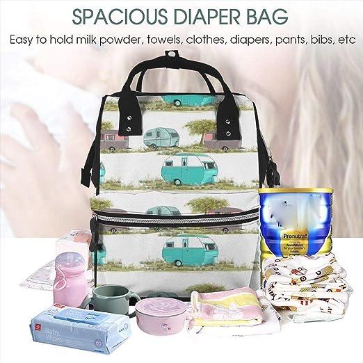 5x Mummy Maternity Nappy Diaper Bag Waterproof Changing Handbag Travel Baby BM6
