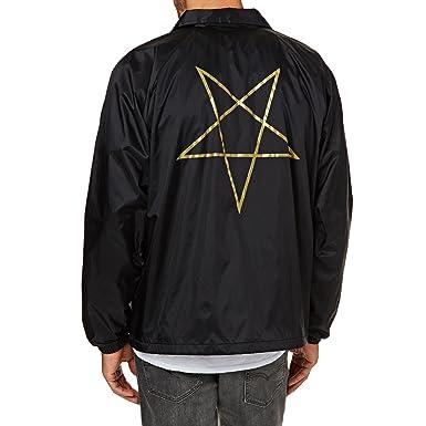 a48458707727 Thrasher Pentagram Coach black Jacket  Thrasher  Amazon.co.uk  Clothing