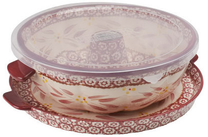 Temp-tations Old World Fluted Tube Pan With Serving Tray - K36058 — QVC.com