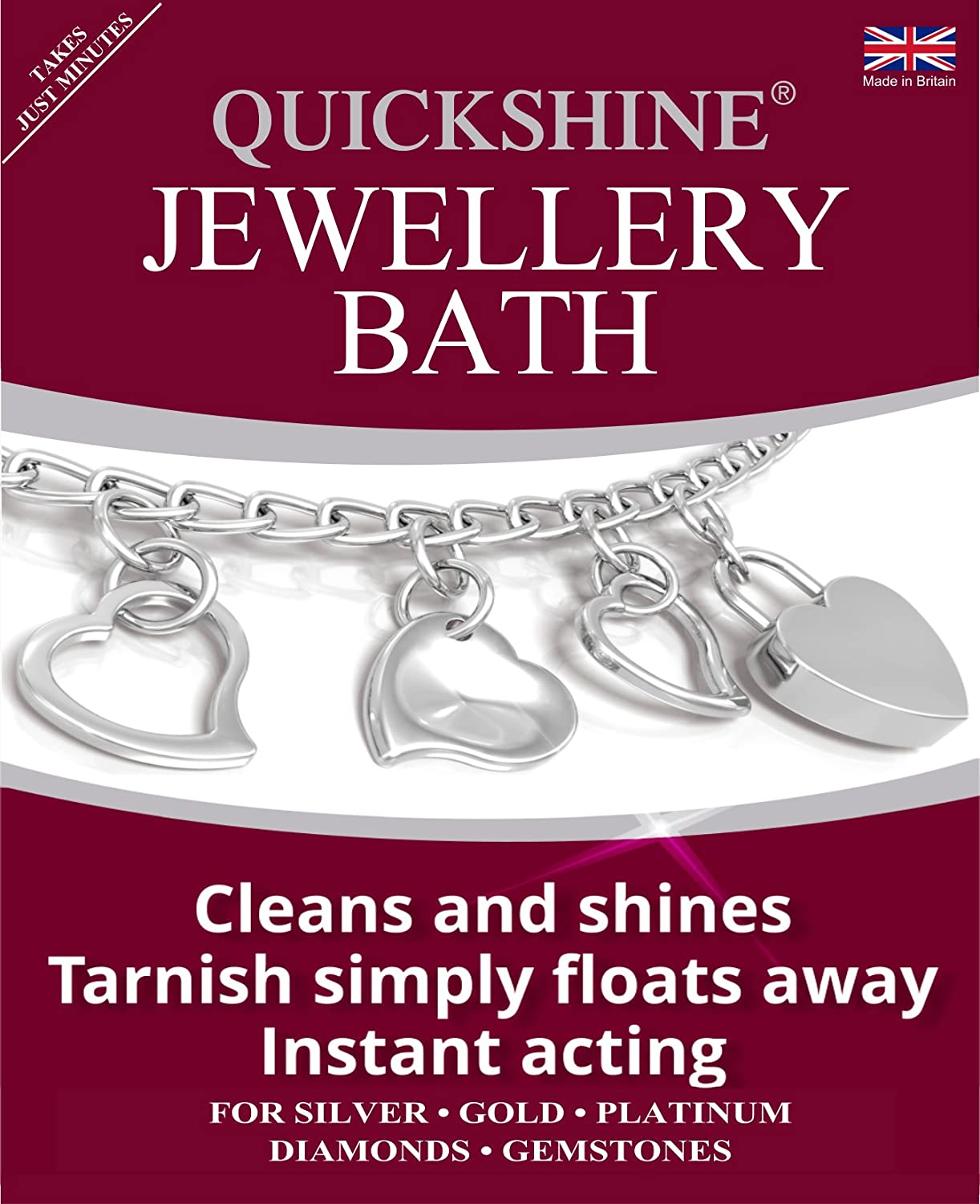 Quickshine Jewellery Clean and Shine, Silver, 1