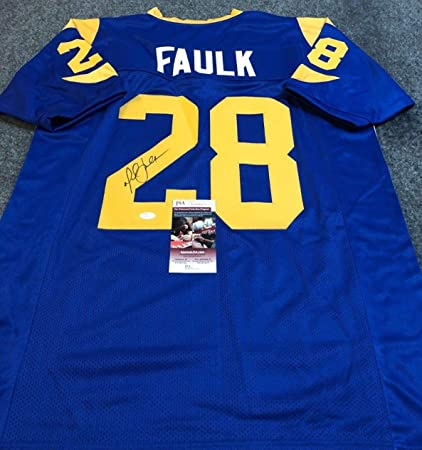 detailed pictures 72516 83a17 L.A. RAMS MARSHALL FAULK AUTOGRAPHED SIGNED JERSEY JSA COA ...