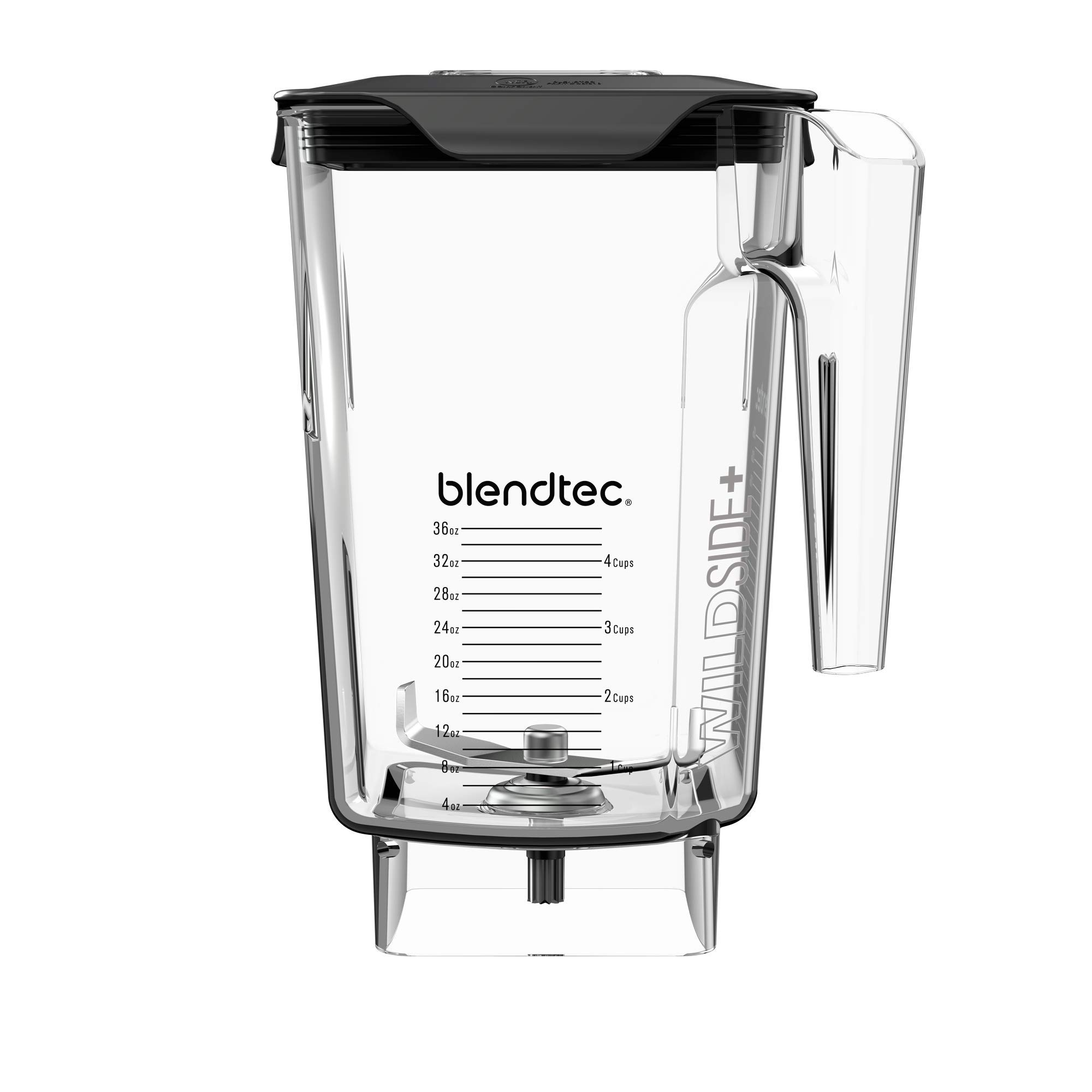 Blendtec WildSide+ 3 Quart Jar (90 oz), Five Sided, Professional/Commercial Grade Blender Jar, Soft Lid, BPA-free, Clear