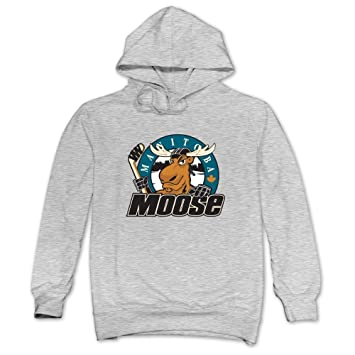 a1bfb33b4d6 JUST Men's John Albert Comic Logo Manitoba Moose Hoodies Ash  Amazon.ca   Sports   Outdoors