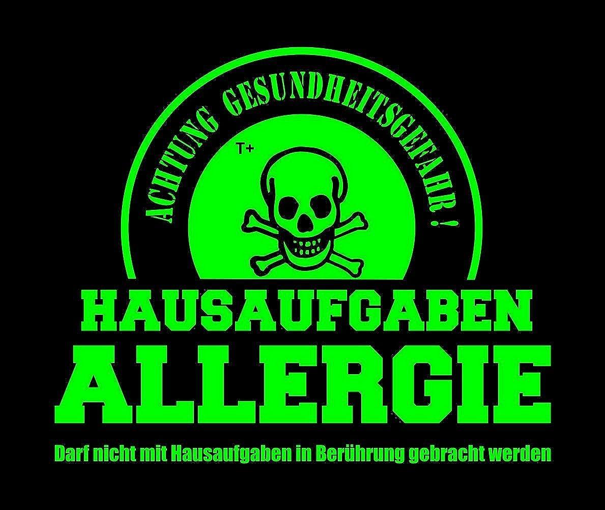Nicht mit Hausaufgaben in Verbindung bringen Kinder Sweatshirt mit Kapuze Hoodie Kids Gr.128-164 cm Coole-Fun-T-Shirts Hausaufgaben ALLERGIE /® Vorsicht Gesundheitsgefahr