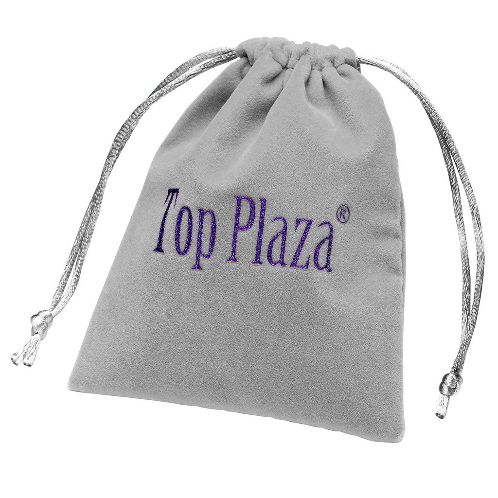 Top Plaza Stainless Steel Deployment Clasp - 20mm Silver Single Fold Over Clasp Deployant Buckle with Insurance Watchband Clasp for Leather/Metal Watch Band Strap by Top Plaza (Image #5)