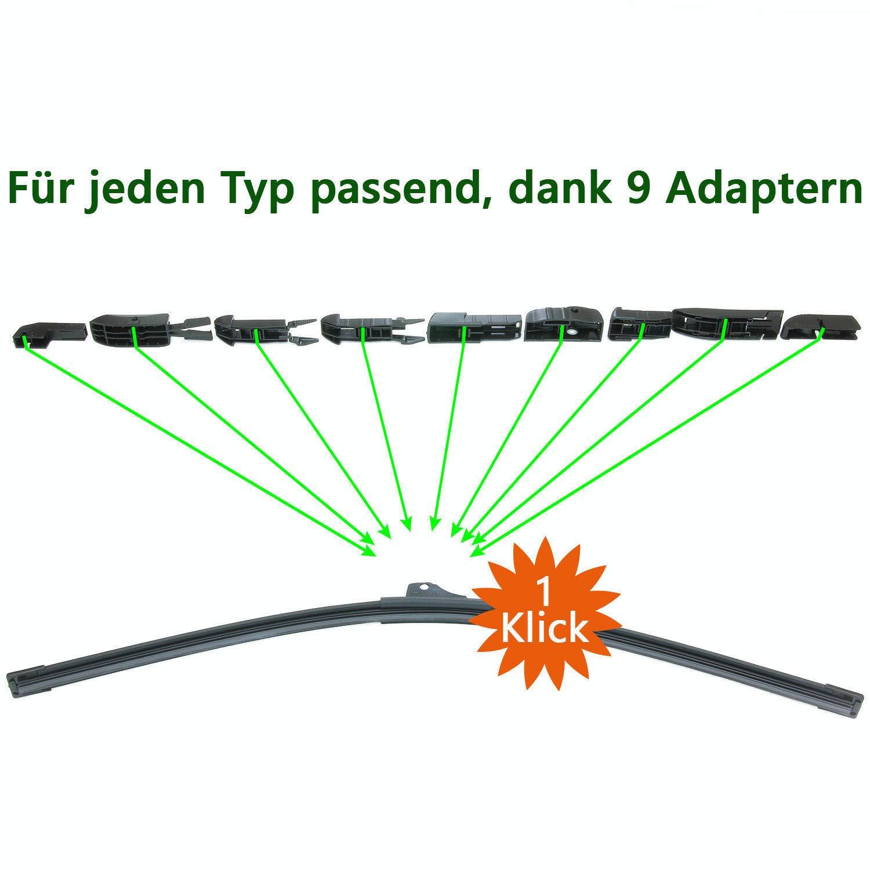 MCPerformance limpiaparabrisas delanteros A4 B6 B7 A6 C5 Exeo: Amazon.es: Coche y moto