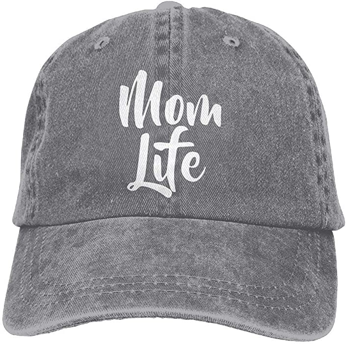 Amazon.com  MNBHat Mom Life Adjustable Cotton Hat Ash  Clothing 88d24a7de14