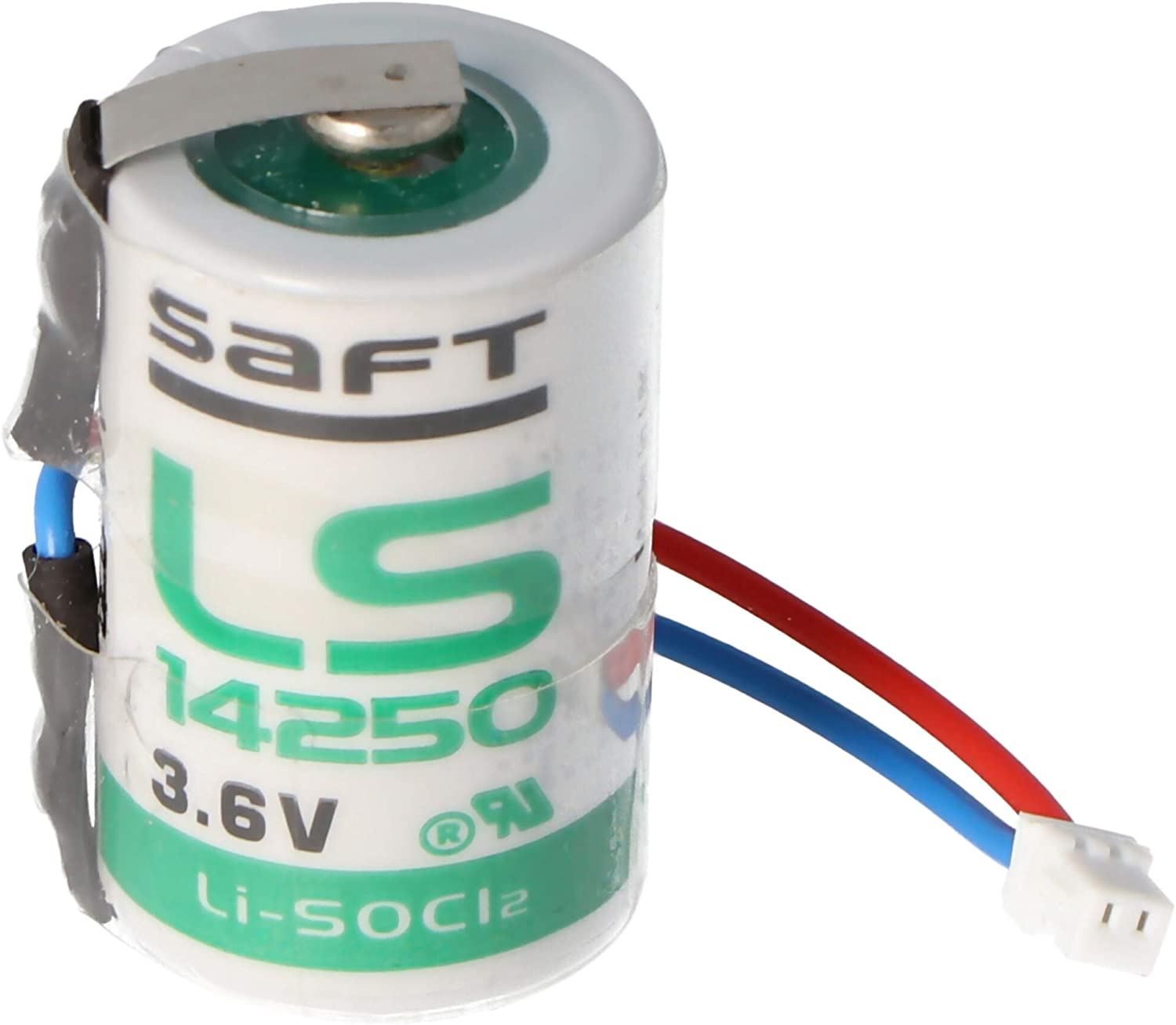 Saft Lithium 3 6 V Battery Ls14250 With Cable And Plug Elektronik