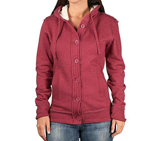 Ouray Ladies Chunky Hooded Fleece Cardigan at Amazon Women's ...