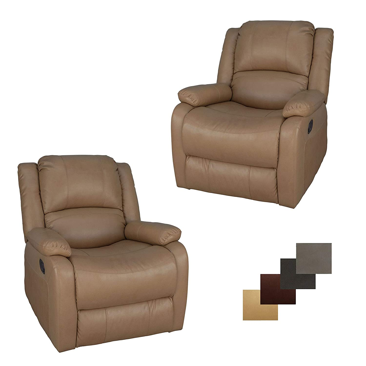 Amazon com set of 2 recpro charles collection 30 swivel glider rv recliner rv living room slideout chair rv furniture glider chair toffee